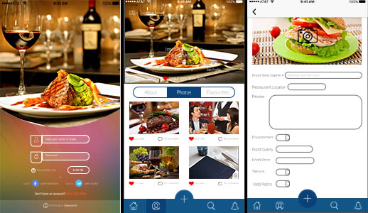restaurant mobile app template